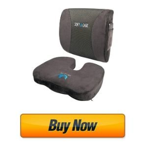 SOFTaCARE Memory Foam seat cushion and Lumbar Support Pillow