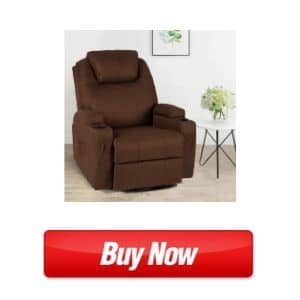 Esright Coffee Fabric Massage Recliner - best chair for bad back