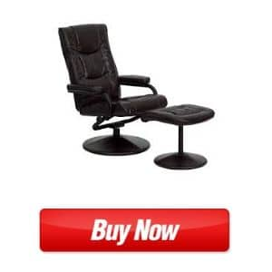 Flash Furniture Contemporary Black LeatherSoft Recliner best armchair for back pain